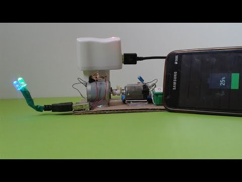 How To Make Motor Generator - Mobile Phone Charger