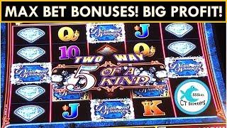 THIS GAME WON'T STOP BONUSING! BIG PROFIT! Diamond Winners Slot Machine