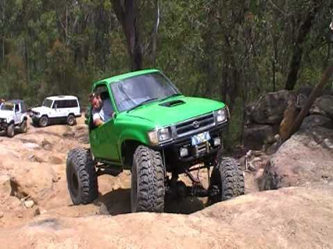 Hilux Rock Crawling At Appin First Run In New Truck Youtube