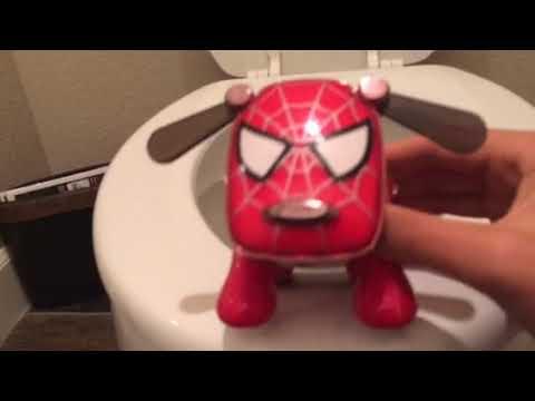 IDOG SHORT: Spi-Dog Teaches Dezel How To Use The Potty!!!