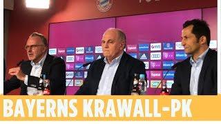 Die Abrechnung der Bayern-Bosse | FC Bayern München Pressekonferenz