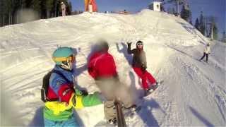 Opening snowboard seson 2013-2014 in Bukovel. Открытие сноуборд сезона в Буковели(Вот так прошло долгожданное открытие зимнего сезона на Буковеле! Солнце, склоны, позитив, новые знакомства..., 2013-12-27T03:00:31.000Z)
