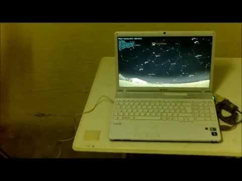 How to use Stellarium program to control a Synscan mount via computer UTUBE