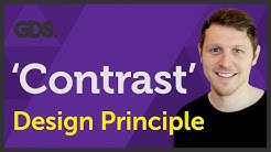 'Contrast' Design principle of Graphic Design Ep9/45 [Beginners guide to Graphic Design]