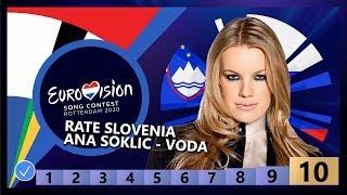 🇸🇮RATE SLOVENIA - Ana Soklič - Voda - Slovenia Eurovision 2020