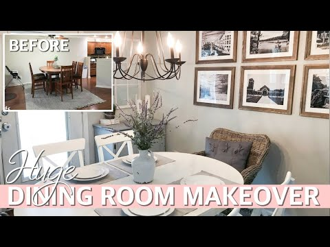 DINING ROOM MAKEOVER | Decorate with me w/ dining room decorating ideas 2019 Ft. IKEA (Sponsored)