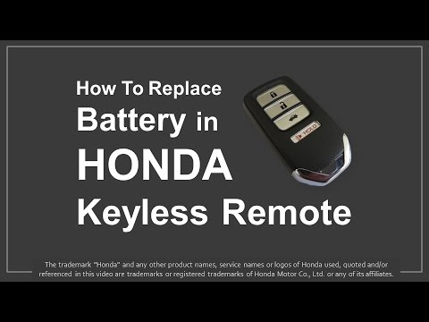 How to Replace Battery in Honda Keyless Remote