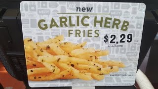 Jack In The Box Garlic Herb Fries Review - CarBS
