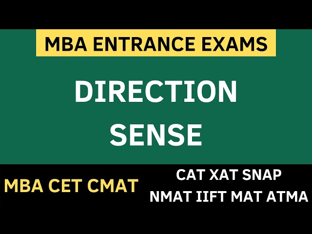 MBA CET 2020 - DIRECTION SENSE TRICKS + Sums Solved + Free PDF Download. MBA CET 2020 PREPARATION