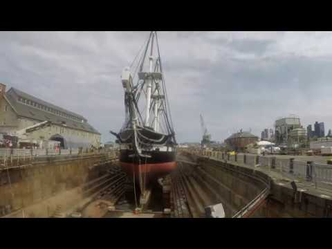 USS Constitution Leaving Dry Dock 1 - July 23, 2017