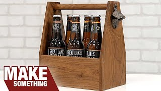 How to Make a Beer Tote / Caddy. Woodworking Project You Can Sell!
