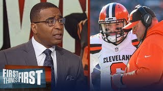 Cris Carter approves of Browns promoting Freddie Kitchens to head coach | NFL | FIRST THINGS FIRST