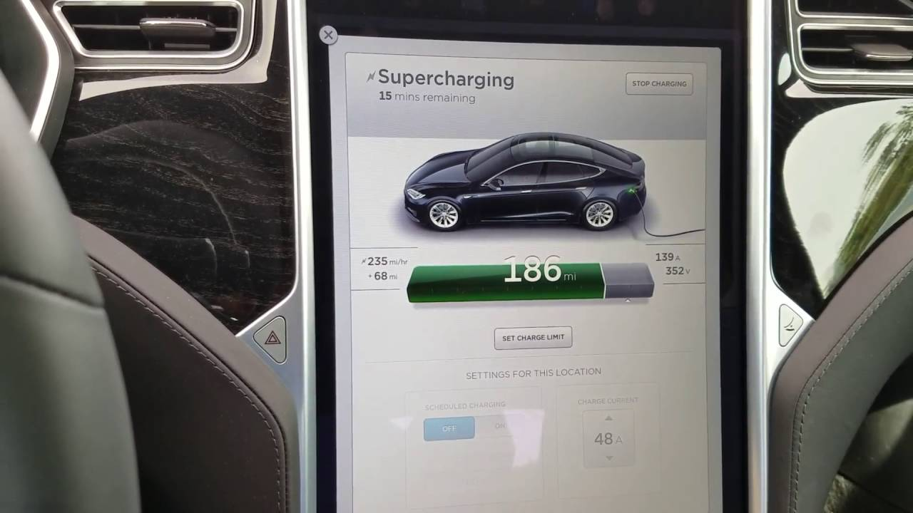 how fast is a tesla supercharger youtube. Black Bedroom Furniture Sets. Home Design Ideas