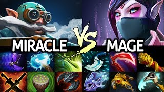 MIRACLE Gyrocopter VS MAGE TA - Tryhard Last Game Patch 7.22 Dota 2
