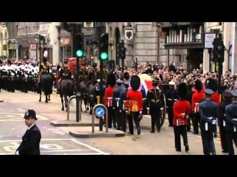 Margaret Thatcher's funeral - Ding Dong, The Witch is Dead!