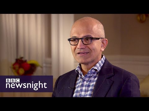 Evan Davis meets Microsoft CEO Satya Nadella (extended interview)  - BBC Newsnight