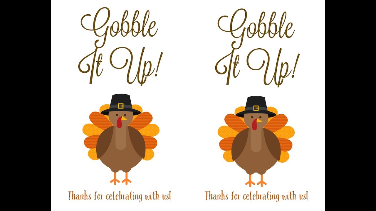 Thanksgiving Labels For DIY Bags And Utensil Holders
