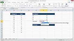 Excel Zählenwenn und Summewenn