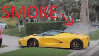 LaFerrari Reckless Driving & Breaks Down In Beverly Hills! Damaged and Smoking!
