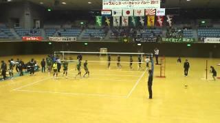 2011年全日本インカレ 準々決勝 中央大vs筑波大 第5セット 2/6