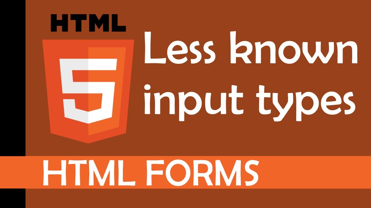 Less Known Input Types in HTML
