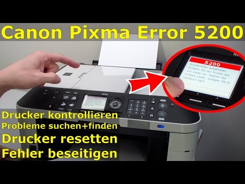 Canon Pixma Printer Error 5200 - FIX