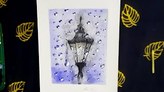 How To Paint Raindrop Effect With Acrylic Colours | Speed Painting