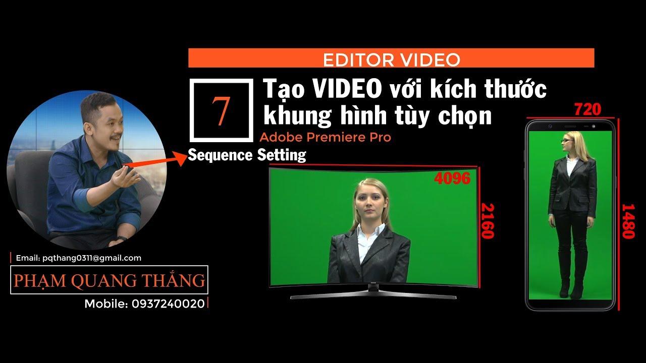 Hướng dẫn tạo video với kích thước khung hình tùy chọn