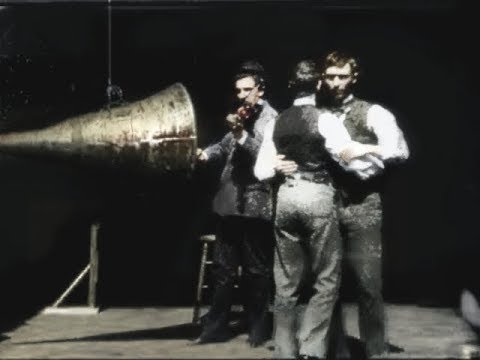 The First Film With Sound (1894) HD Colourized