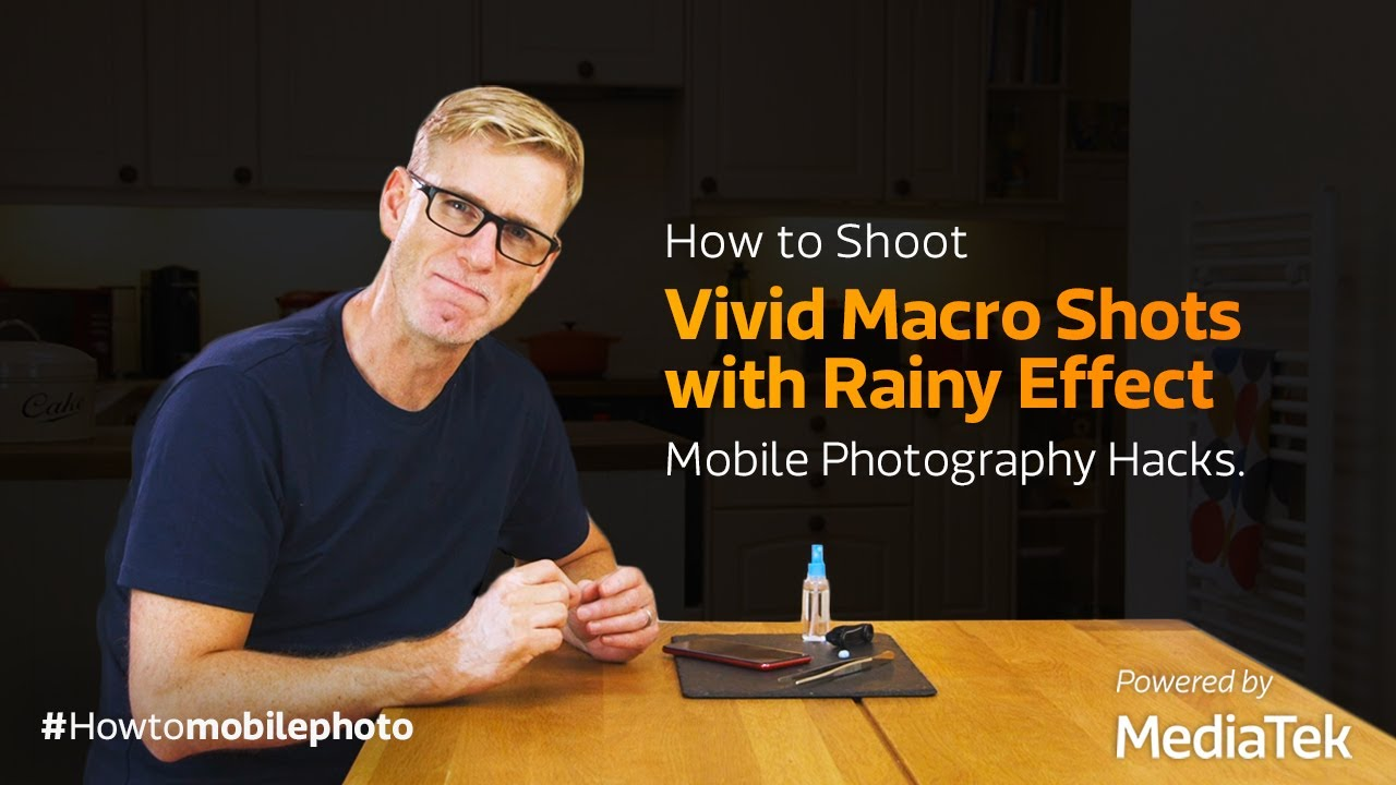How to Shoot Vivid Macro Shots with Rainy Effect | Mobile Photography Hacks