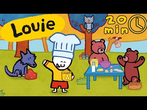 Animals - Louie Draw Me Animals From The Forest | Learn To Draw, Cartoon For Children