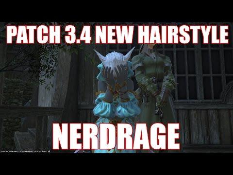 FFXIV Patch 3.4 New Hairstyle NERD RAGE