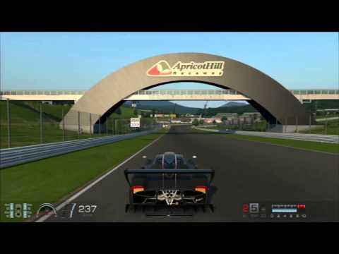 GT6 Racing Car Super Lap 1 16 831 Gold   Pagani Zonda R @ Apricot Hill   chase cam