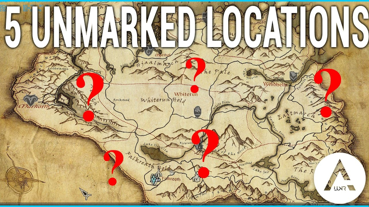 Unmarked Locations Skyrim Special Edition YouTube - Unmarked map