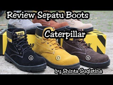 Review Sepatu Boots Caterpillar ll spatu boots hitam