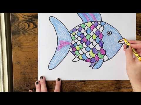 How To Draw Book Characters - Rainbow Fish