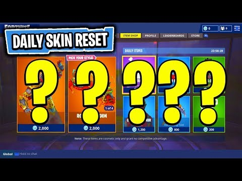 The NEW Daily Skin Items In Fortnite: Battle Royale! (Skin Reset #44)