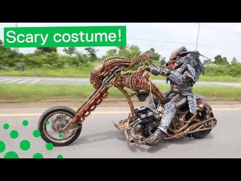 Real Life Predator on Motorbike in Thailand