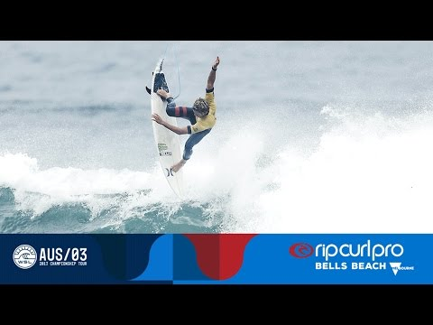 John John Florence's 9.97 & Unbelievable Air in Round Four - Rip Curl Pro Bells Beach 2017