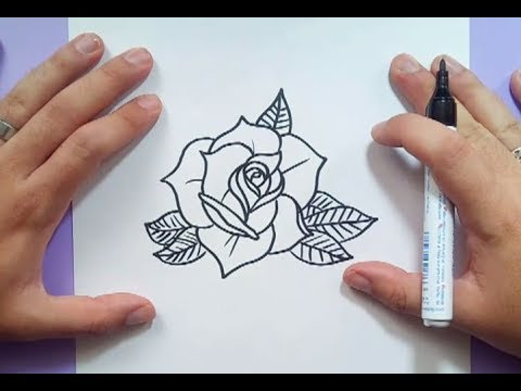 Como dibujar una rosa paso a paso 13 | How to draw a rose 13 - YouTube