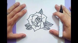 Como dibujar una rosa paso a paso 13 | How to draw a rose 13