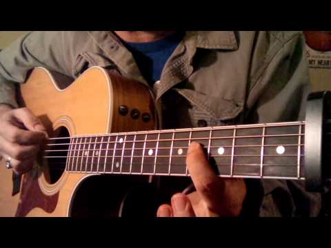 How to play Sweet Caroline Neil Diamond for 1 guitar