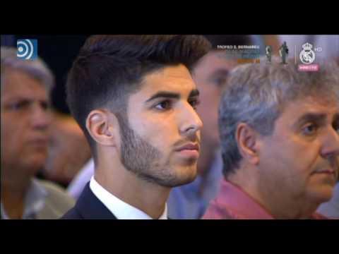 Marco Asensio se emociona en su presentación como jugador del Real Madrid