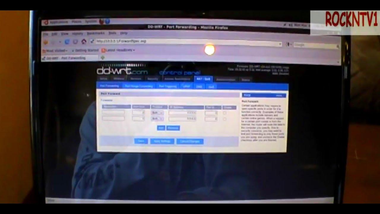 port forward linksys router DD-WRT