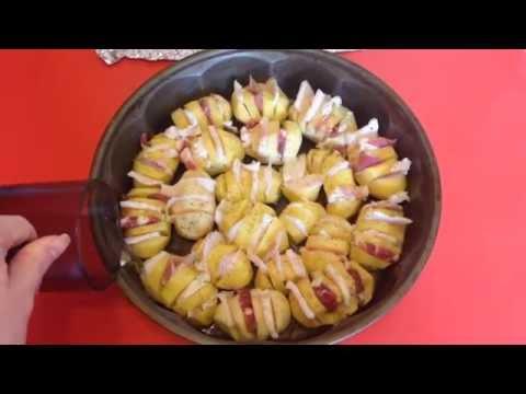 Картошка с салом в духовке (простой видео-рецепт вкусной картошки в духовке)