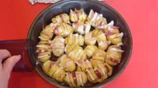 Картошка с салом в духовке простой видео рецепт вкусной картошки в духовке