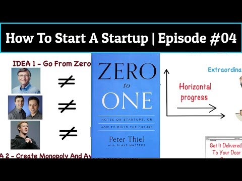ZERO TO ONE BY PETER THIEL - VIDEO BOOK SUMMARY