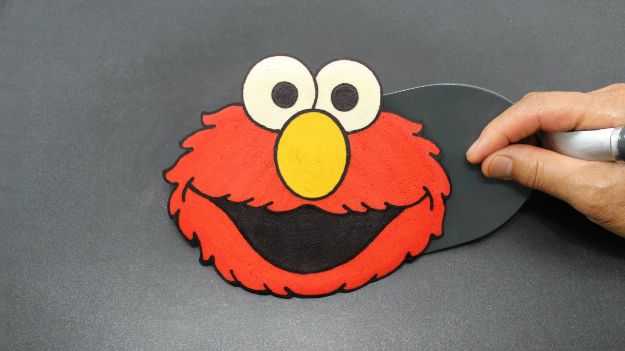 Elmo\'s World Sesame Street Pancake - YouTube