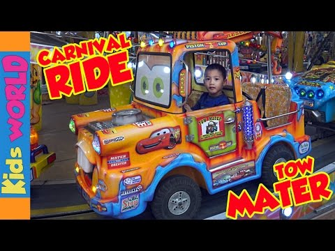 TOW MATER Carnival Rides | Toy Town Express | Charlie's Kids World