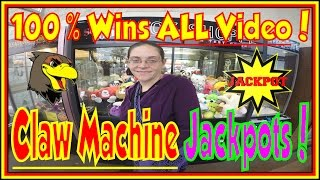 � Arcade Claw Machine Plush Wins Claw Machines WINNING Claw Machine Big Giant Jackpot Win Hawkes